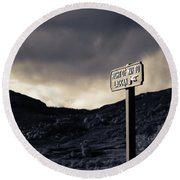 Right Of Way To Laggan Round Beach Towel