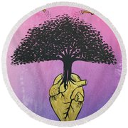 Righteous Growth Round Beach Towel