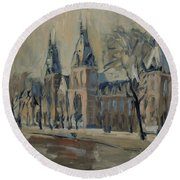 Rijksmuseum Just After The Rain Round Beach Towel