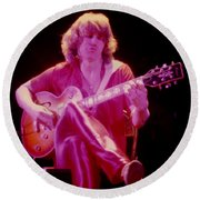 Rik Emmett Of Triumph At The Warfield Theater In San Francisco Ca Round Beach Towel