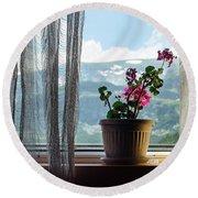 Rila Mountains-flowers Round Beach Towel