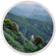 Round Beach Towel featuring the photograph Rim O' The World National Scenic Byway II by Kyle Hanson