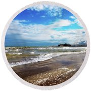 Rimini After The Storm Round Beach Towel