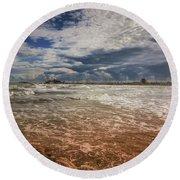 Rimini Storm Round Beach Towel