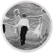 Ring Around The Rosy Round Beach Towel by Colleen Coccia