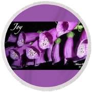 Ring My Bell With Joy Round Beach Towel