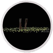 Ring Of Green  Round Beach Towel