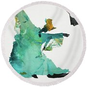 Ring Shout Dancer Round Beach Towel