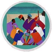 Ring Shout Gullah Islands Round Beach Towel