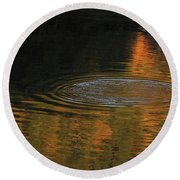 Rings And Reflections Round Beach Towel