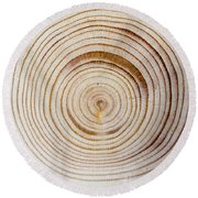 Rings Of A Tree Round Beach Towel