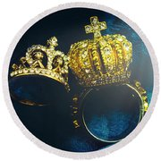 Rings Of Nobility Round Beach Towel