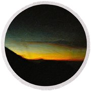 Rinjani Sunset Round Beach Towel