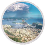 Round Beach Towel featuring the photograph Rio De Janeiro by Andrew Matwijec