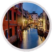Round Beach Towel featuring the photograph Rio Di San Vio by Fabrizio Troiani