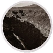 Round Beach Towel featuring the photograph Rio Grande River Taos by Marilyn Hunt