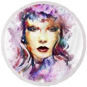 Round Beach Towel featuring the digital art Rio by Kathy Kelly