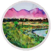 Rio On Country Club Round Beach Towel