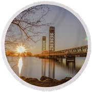 Rio Vista Morning Round Beach Towel