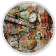 Riot Of Colour Distillery District Round Beach Towel