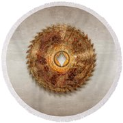 Rip Tooth Sawblade Round Beach Towel by YoPedro