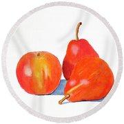 Ripe And Ready To Eat Round Beach Towel