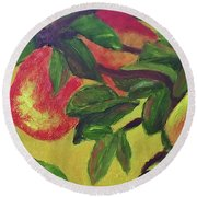 Ripe Pears On The Tree Round Beach Towel