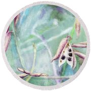 Ripe Seeds Round Beach Towel