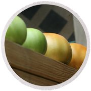 Ripening Round Beach Towel by Barbara S Nickerson