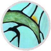 Round Beach Towel featuring the painting Ripening II by Mary Sullivan