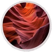 Ripple Of Color Round Beach Towel