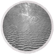 Rippled Light Round Beach Towel