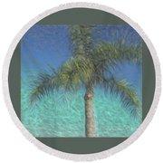 Rippled Palm Round Beach Towel