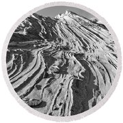 Rippled Sandstone At Waterhole Canyon Round Beach Towel