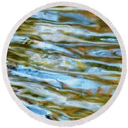Ripples 07 Round Beach Towel