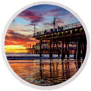 Ripples And Reflections Round Beach Towel