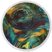 Ripples In Time Round Beach Towel