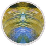 Ripples Of Bell Rocks Round Beach Towel