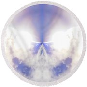 Rise Above  Round Beach Towel
