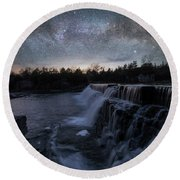 Round Beach Towel featuring the photograph Rise And Fall by Aaron J Groen