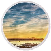 Rise And Shine Round Beach Towel
