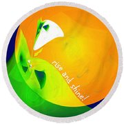 Rise And Shine Round Beach Towel by Methune Hively