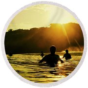 Round Beach Towel featuring the photograph Rise And Shine by Nik West