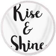 Rise And Shine Round Beach Towel