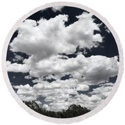 Rise Of The Clouds Round Beach Towel