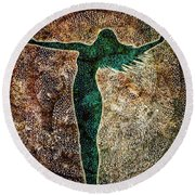 Rise Of The Divine Feminine Round Beach Towel
