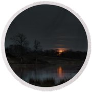 Round Beach Towel featuring the photograph Risen by Norman Peay