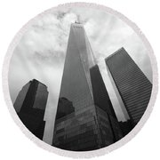 Round Beach Towel featuring the photograph Risen Out Of The Rubble by John Schneider