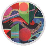 Rising Above And Synergy 2 Round Beach Towel