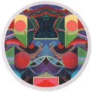 Rising Above And Synergy 3 Round Beach Towel